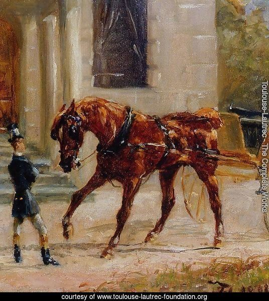 The one horse Carraige by Toulouse Lautrec Giclee Fine ArtPrint Repro on Canvas