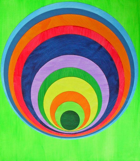 "Green 565, 9""X10"" Acrylic and fabric on panel. 2013."
