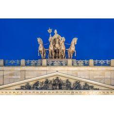Fototapete, Braunschweig, Schloss, Quadriga, Skulpturengruppe, Pferde, Niedersachsen, L. Spörl, Merian