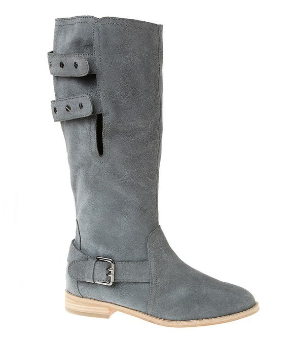 Passions Footwear Pewter Suede Convertible Boot