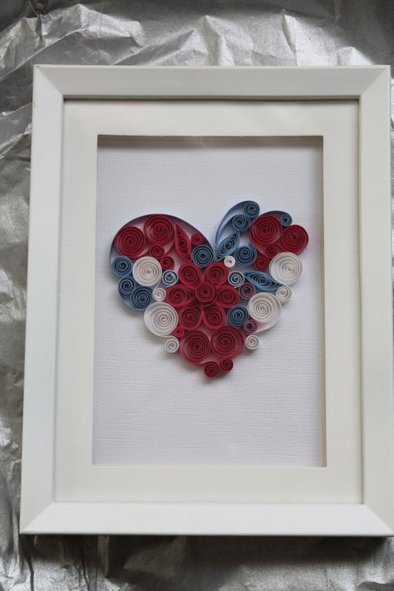 Quilled wall art Quilled heart with a by Especially4UHandmade
