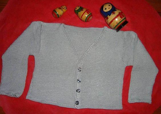 Chaqueta de lana hecha a mano. Para niña de 3 a 4 años.