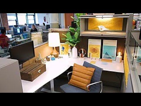 Midcentury Modern Cubicle Makeover Hgtv Youtube Cubicle