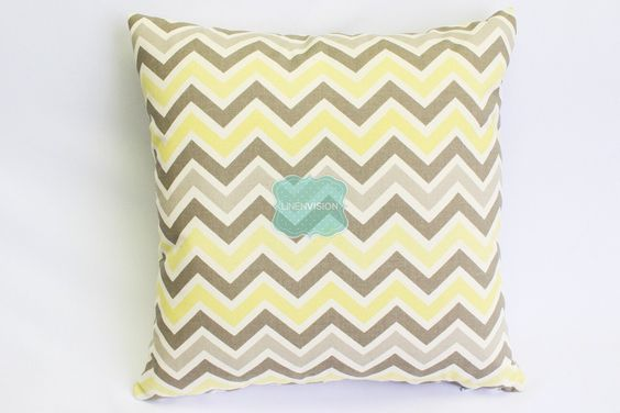 Pillow Cover - Premier Prints - ZOOM - Sunny Natural Yellow Grey - Home Decor Sofa Throw Pillow-Cover with Zipper Enclosure - All Sizes by LinenVision on Etsy https://www.etsy.com/listing/226568322/pillow-cover-premier-prints-zoom-sunny