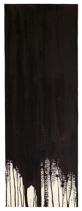 gacougnol:    Yves Klein Monochrome noir sans titre (M 17), 1957, 74 x 24 cm.  Thank you gacougnol.