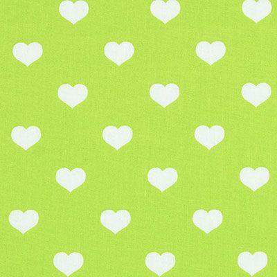 Classic Hearts 1,5 cm, 7 - Coton - vert pomme