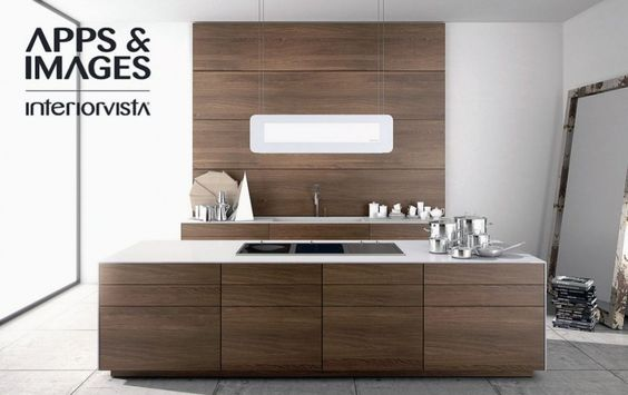 Kitchen cabinetry modern Modern Walnut Kitchen Cabinets - eine dynamisches modernes kuche design darren morgan