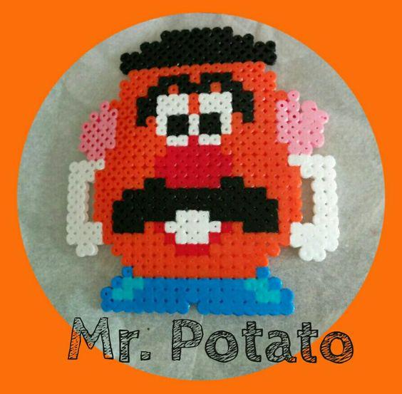 Mr.Potato imán para nevera de #hamabeads. Regalo de amigo invisible para #mimadrina