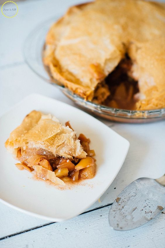 "Phyllo Dough Easy Apple Pie Recipe Who doesn't love a classic homemade apple pie?? If you aren't much of a ""baker""- no worries! This pie is SO easy because instead of slaving away making pie dough and really making a mess in the kitchen we are going..."