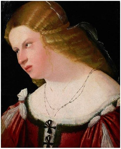 Portrait of a woman (1515-1520) by unnamed Venetian artist (historyoffashion)