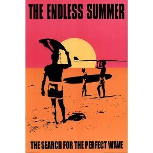 (24x36) The Endless Summer Movie Holding Surfboard, Orange Poster Print --- http://www.pinterest.com.luvit.in/3o0
