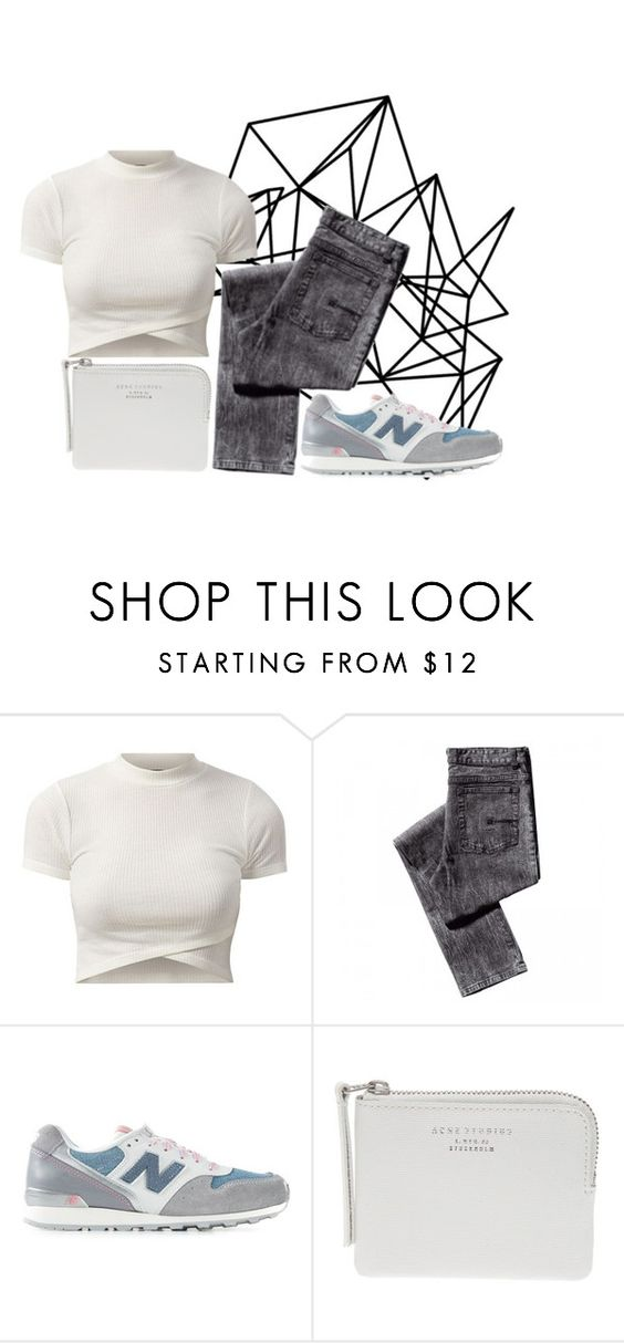"""""""mono"""" by waitforclearskies ❤ liked on Polyvore featuring moda, Color Me, New Balance y Acne Studios"""