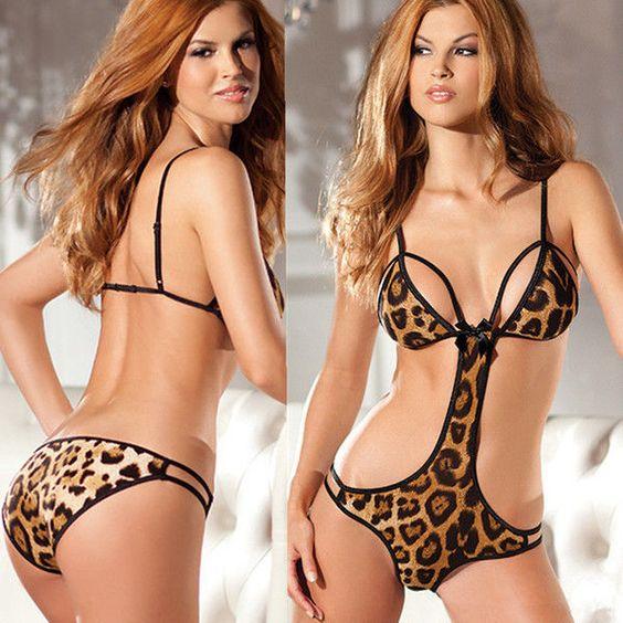 New Sexy lady Leopard Sexy Lingerie Set Women Sexy underwear One Size #UnbrandedGeneric #Sexy