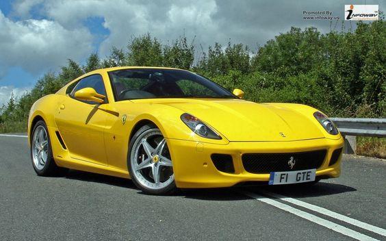 Ferrari 599 Yellow Front Angle view