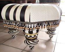 MacKenzie Childs Large Ottoman Setting Seat