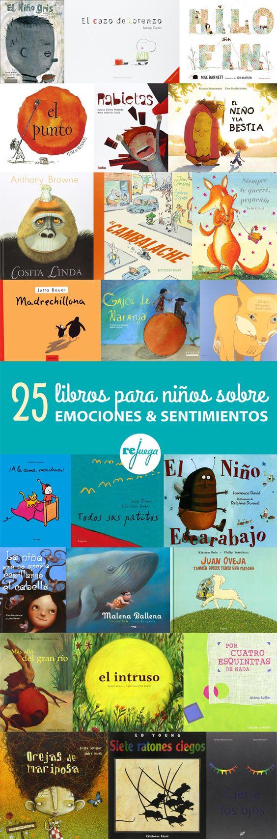 25 libros para niños y padres sobre emociones y sentimientos. Una forma de enseñar #educaciónemocional. Seleccionados por el Institut de la Infància