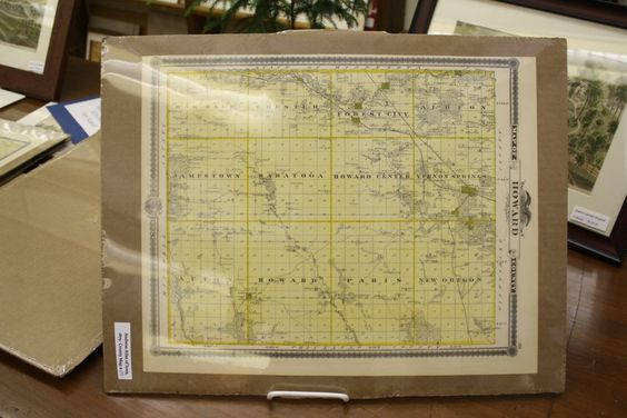 Map of Howard County in Iowa, Howard County, IA, 1875, n/a