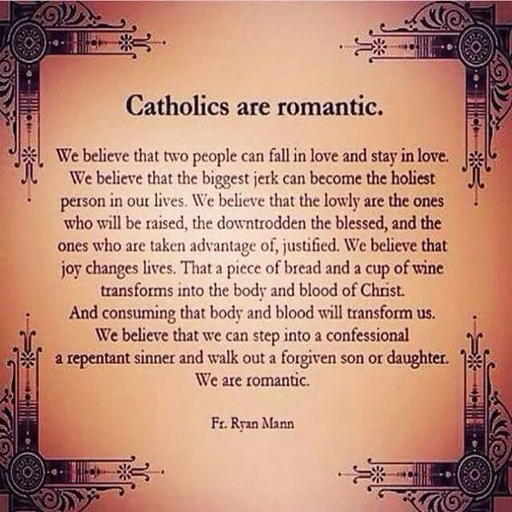 Catholic dating saying i love you