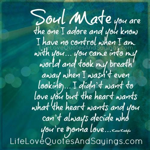 Soul Mate You Re My Soulmate