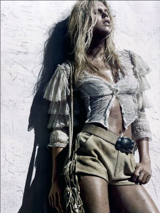 Italian Vogue January 2011. Shot by Tom Munro.  Check out Ludivine's latest styles on her Facebook page