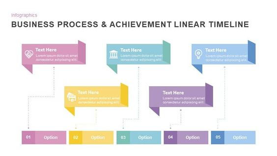 Business Process Achievement Linear Timeline Powerpoint Template Powerpoint Templates Business Process Powerpoint Presentation Templates