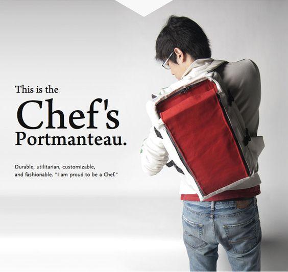 Chef's Portmanteau by Julius Tarng, via Behance