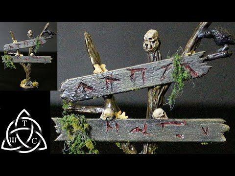 Halloween 2020 Citadel Craft a Spooky Creepy Swamp Sign for D&D using Citadel skulls