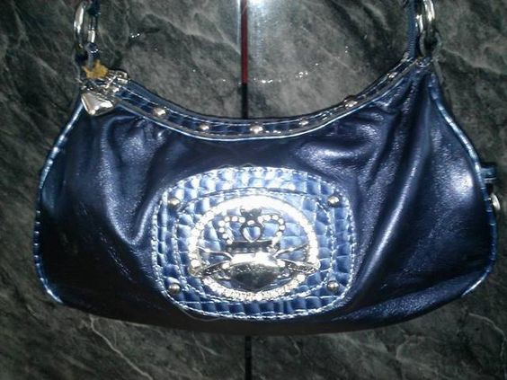 Authentic Blue Kathy Van Zeeland Handbag. Starting at $25 on Tophatter.com!