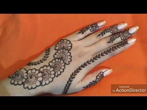 تعليم نقش الحناء للمبتدئين رسمة خفيفة و بسيطة على ظهر اليد بستايل عصري و انيق لعشاق النقش Youtube Henna Designs Henna Hand Tattoo Hand Henna
