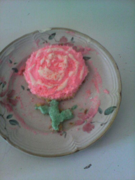 Homemade cake and icing!