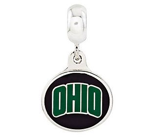 Sterling Silver Ohio University Dangle Bead