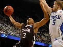 Lehigh beating Duke in the NCAA tournament.  Picture by Mike Ehrmann-Getty Images: