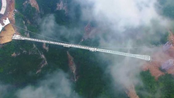 Located over the Tianmenshan National Forest Park, China, the Zhangjiajie Grand Canyon Glass Bridge has actually inspired the idea of floating Hallelujah mountains in the movie, Avatar.