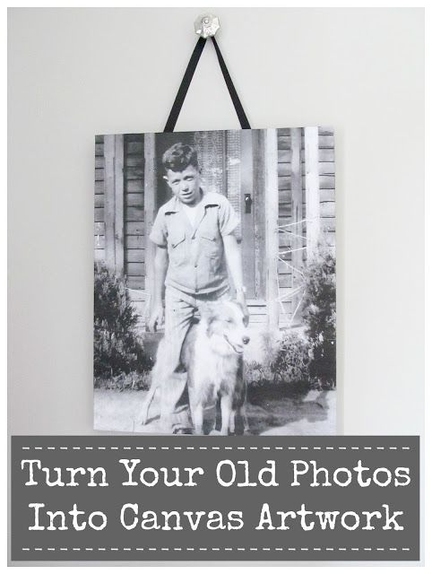 Turn Your Vintage Photos Into Canvas Artwork | Hymns and Verses