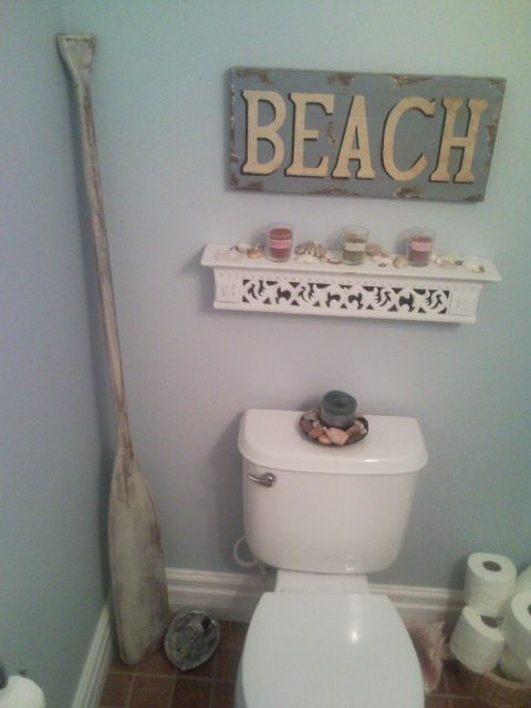 cute beach bathroom perfect for my half bath home decor pinterest
