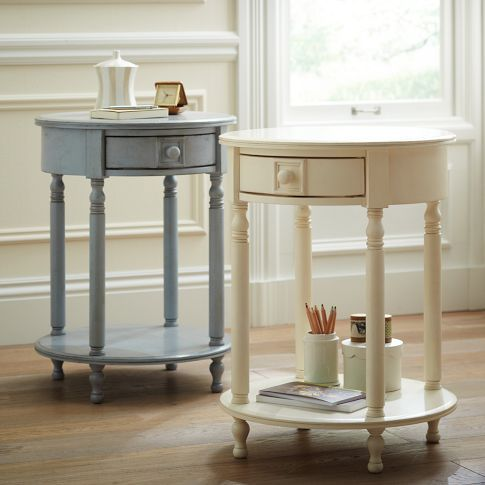I would love beautiful, round bedside tables for the girls' room but these are 250 bucks each.  Gah!