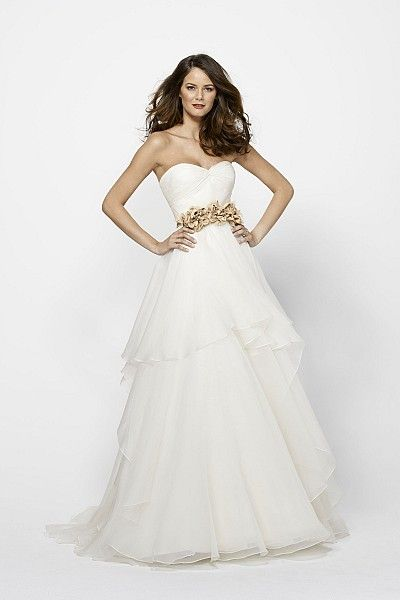 Watters Brides Norma Gown (belt sold seperately) i'm not a fan of the belt, but the dress is  gorgeous