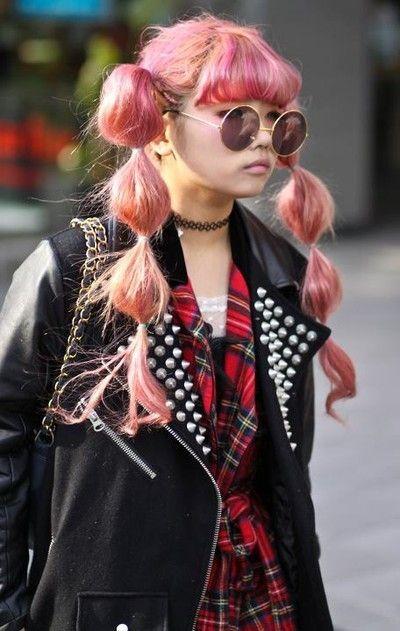****hair, cute puffy twin ponytails - Japanese fashion