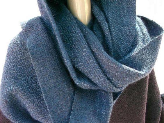 Kapuzenschals - Kapuzenschal handgewebt - ein Designerstück von…