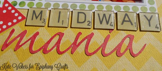 """Create your own """"Scrabble"""" tiles with the #epiphanycrafts Shape Studio Tool Square available at #MichaelsStores www.epiphanycrafts.com  #scrapbook #disney #octoberafternoon"""
