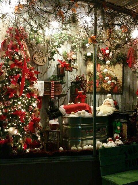 Pin By Carolyn Malin On Flower Shop Christmas Window Display