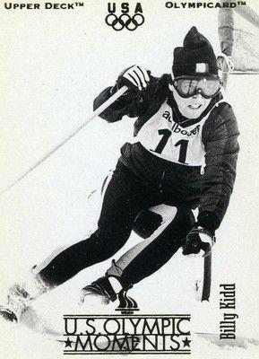 RARE 1996 UPPER DECK OLYMPICARD U.S. OLYMPIC MOMENTS BILLY KIDD USA TEAM MINT
