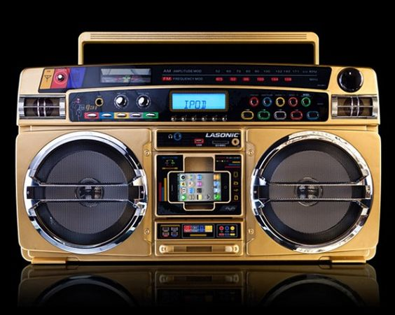 Lasonic 1931x brings 80 39 s gaudy fashion to modern ipod boombox http www - Lasonic ghetto blaster i931x ...