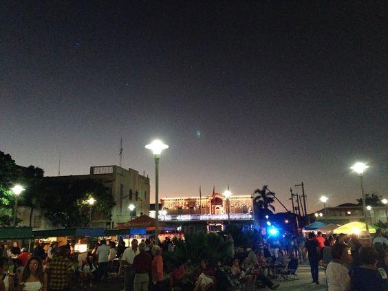 Plaza de Luquillo en Navidad