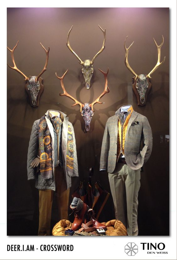 #Deer.I.am #special #concept developed by Tino den Weiss exhibited in the vitrine of #fashion house #Crossword in #Brussels #Belgium #art #support #nature #exclusivity