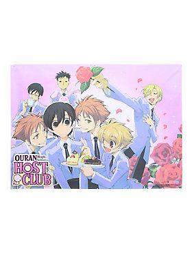 "Fabric poster from from <i>Ouran High School Host Club</i> with a group roses design.<ul><li> 29 1/2"" x 42""</li><li>Imported</li></ul>"