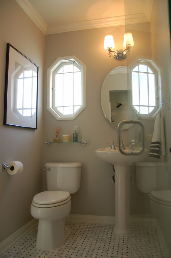 Popular small bathroom colors best paint color for small for Small bathroom design colors