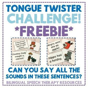 Tongue Twister Challenge With Images Speech Therapy Speech