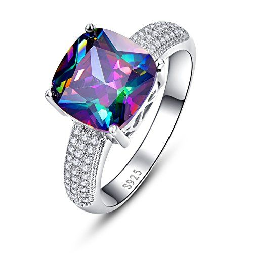 6Grape Platinum Plated Sterling Silver Diamond Women/'s Ring Wedding Band Channel