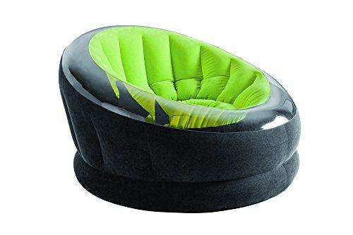 Intex Aufblasmöbel Loungen Sessel Empire Chair, Grün Schwarz,112 x 109 x 69 cm